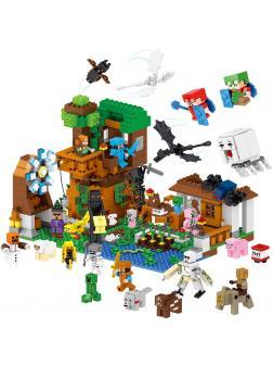 Конструктор Ll «Праздник на деревенской ферме: Все герои Майнкрафт» 33163 (MInecraft) 1007 деталей
