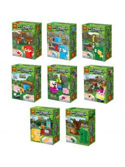 Набор минифигурок Minecraft «Герои Майнкрафт» 33168 (Совместимый с ЛЕГО), фигурки-ластик 8 видов