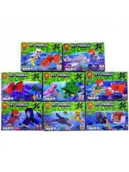 Минифигурки Minecraft «Подводный мир» 33242 (Совместимый с ЛЕГО), 8 видов