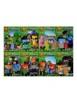 Суперпак минифигурок Minecraft «Мобы-ластик» 33200 (Совместимый с ЛЕГО), 16 героев