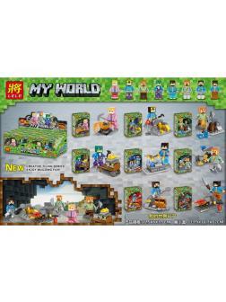 Суперпак минифигурок Minecraft «Герои Майнкрафт в шахте» 33261 (Совместимый с ЛЕГО), 8 героев