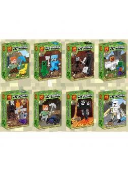 Минифигурки Minecraft «Герои Майнкрафт в Подземелье» 33274 (Совместимый с ЛЕГО), 8 видов