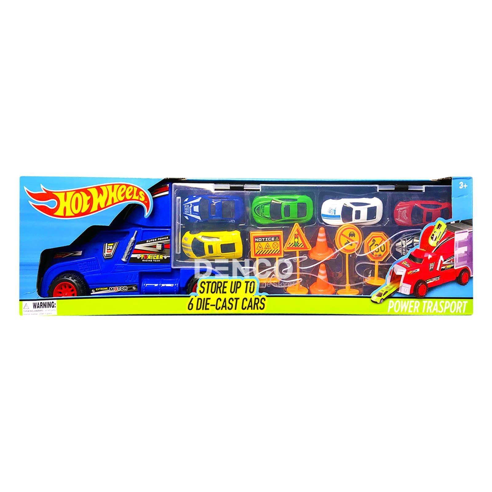 Автовоз и 6 машинок с дорожными знаками (Хот Вилс) 8820-2