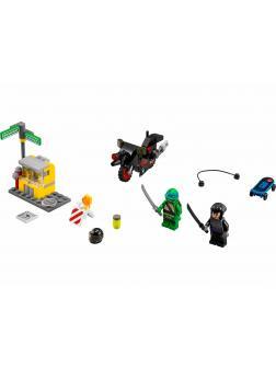 Конструктор Bl «Побег Караи на мотоцикле» 10261 (Ninja Turtle 79118) 87 деталей