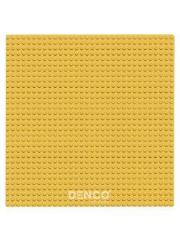 Строительная пластина для конструктора ЛЕГО 25x25 см / Желтая