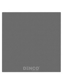 Строительная пластина для конструктора ЛЕГО 25x25 см / Темно-серая