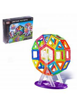 Конструктор магнитный Play Smart «Цветные Магниты» 2430 / 46 деталей