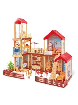 Кукольный домик «Мечта» с мебелью / 201 деталь