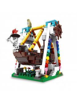 Конструктор XINGBAO «Парк развлечений: Пиратская лодка» XB-01109 / 520 деталей