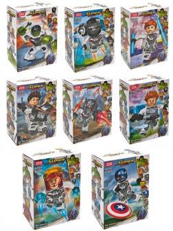 Конструктор JiSi Bricks «Минифигурки Мстители» 0317-0324 (Marvel. Avengers) комплект 8 шт.
