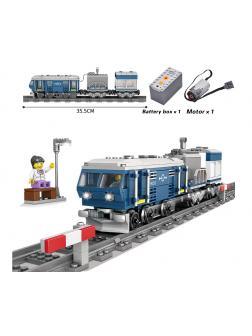 Конструктор электромеханический KAZI «Пассажирский поезд» 98242 (City), 375 деталей