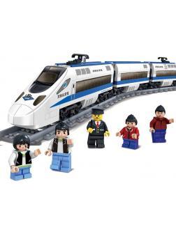 Конструктор электромеханический KAZI «Скоростной пассажирский поезд» 98227 (City), 474 детали