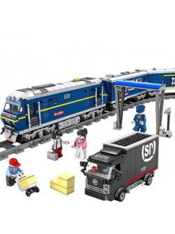 Конструктор электромеханический KAZI «Пассажирский поезд» 98220 (City), 1192 детали