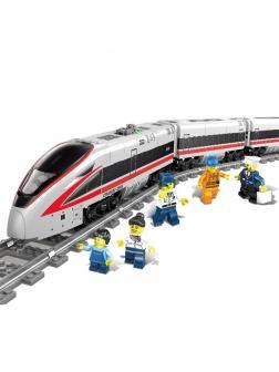 Конструктор электромеханический KAZI «Скоростной пассажирский поезд» 98229 (City), 647 деталей