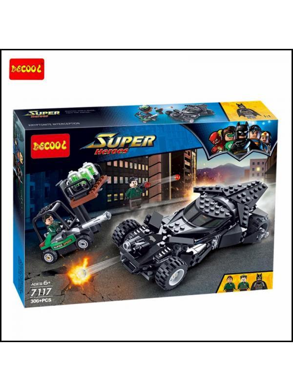 Конструктор DECOOL «Перехват криптонита» 7117 (Batman Movie 76045) 306 деталей