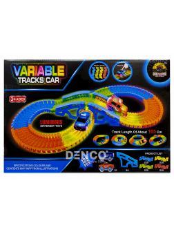 Светящийся гибкий трек Variable Tracks Car 165 см. / 125 деталей + 1 гоночная машинка