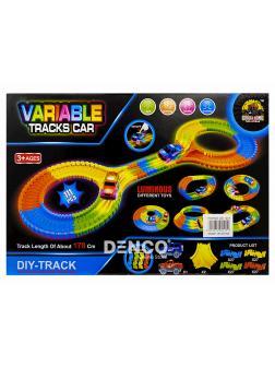 Светящийся гибкий трек Variable Tracks Car 178 см. / 111 деталей + 1 гоночная машинка