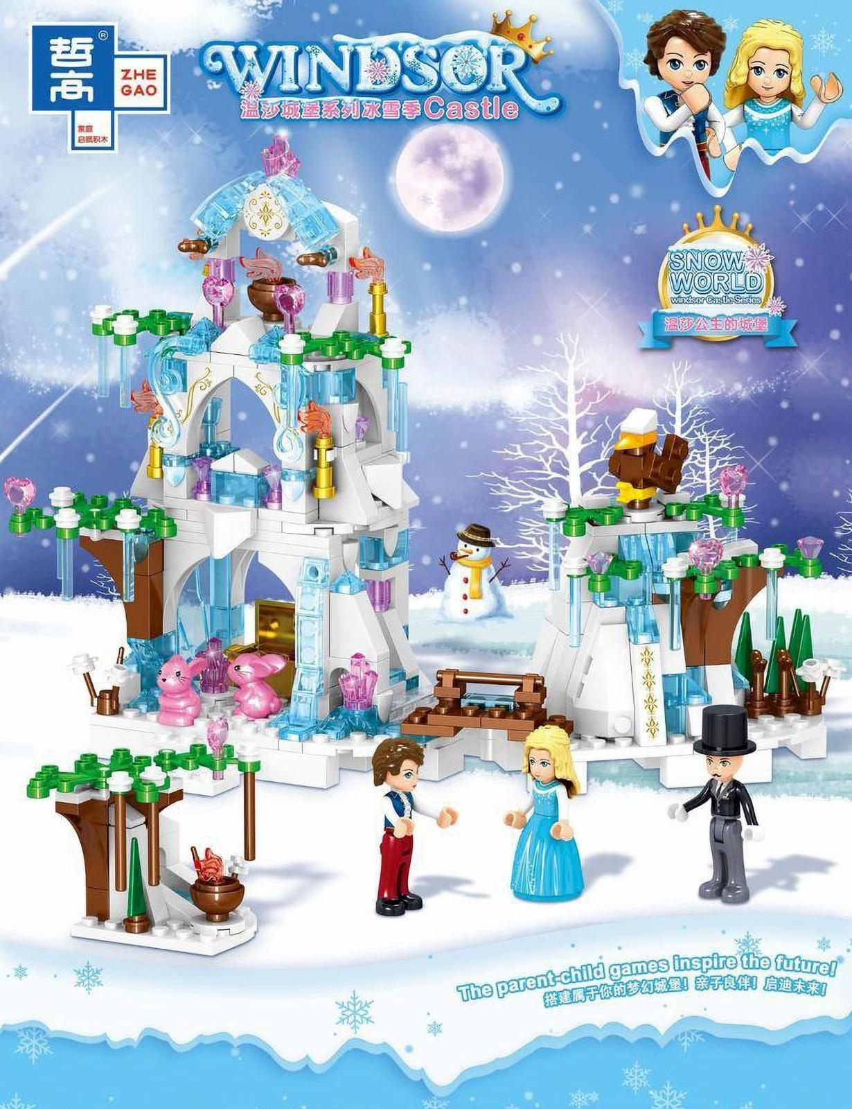 Конструктор Zhe Gao «Ледяной домик» QL1149 (Disney Princess) / 420 деталей