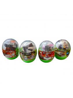 Конструктор PRCK «Яйцо с сюрпризом-фигуркой» 63042 комплект