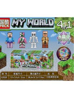 Конструктор PRCK «Поиски клада» 63058 (Minecraft) комплект 4 шт.