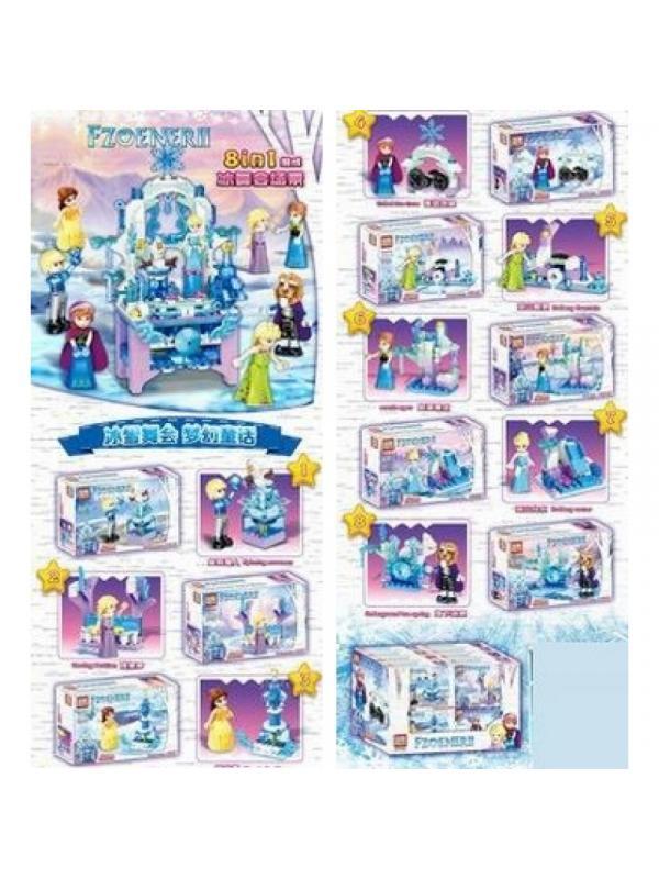 Конструктор «Зимние игры» 67033 (Disney Princess) комплект 8 шт.