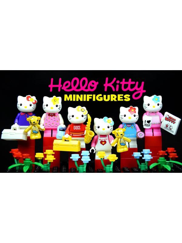 Конструктор JLB «Hello Kitty» 3D18901-06 / комплект 6 шт.