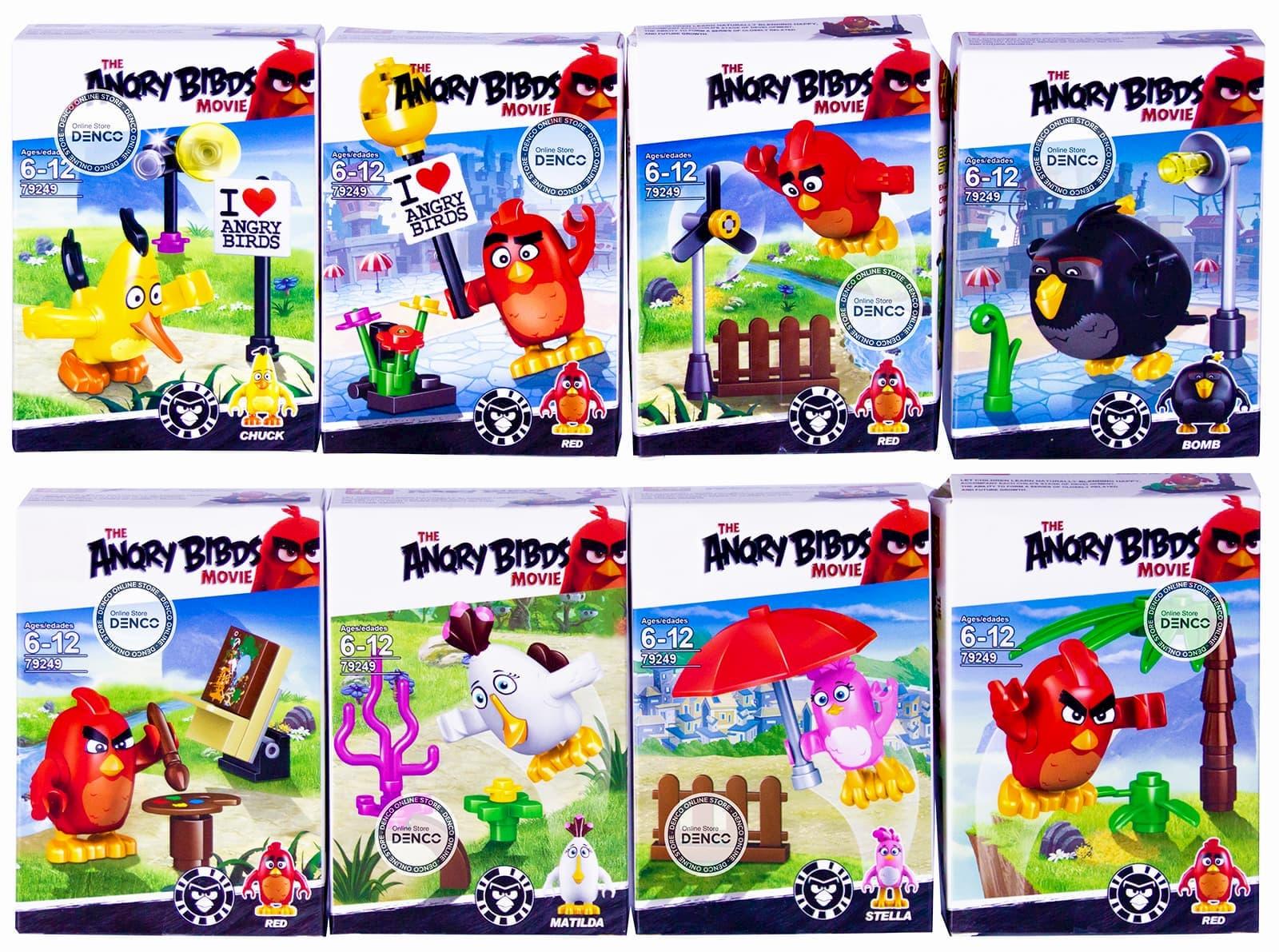 Конструктор Angry Birds 79249 / комплект из 8 шт.