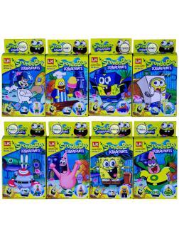 Конструктор Sponge Bob «Губка Боб» 266-D / комплект 8 шт.
