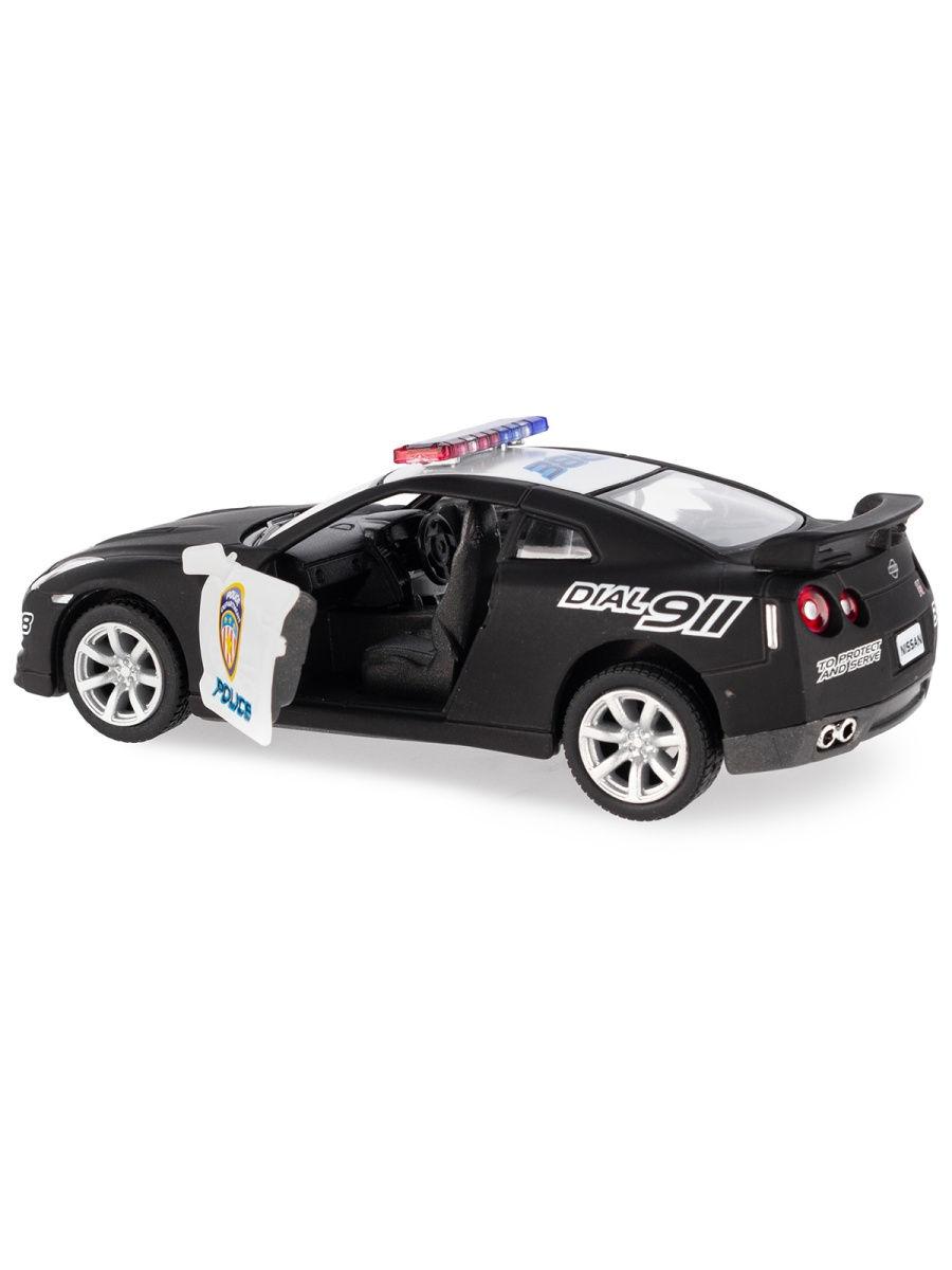 Металлическая машинка Kinsmart 1:36 «2009 Nissan GT-R R35 (Полиция)» KT5340DP инерционная
