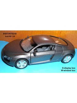 Машинка металлическая Audi R8 1:36, инерционная за 1 шт., КТ5315 / Kinsmart