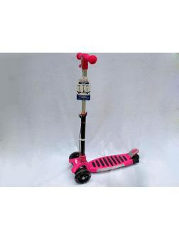 Самокат детский со светом и звуком Scooter (Т02399) / Розовый