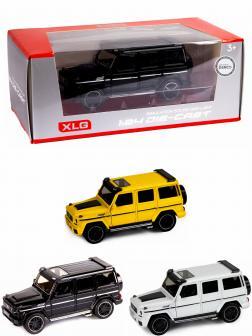 Машинка металлическая XLG 1:24 «Mercedes-Benz G-class Brabus» M923Z-1 19 см. инерционная, свет, звук в коробке / Микс