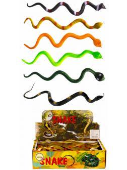 Резиновые фигурки животных «Змеи-Кобры» 628 33 см. / 6 шт.