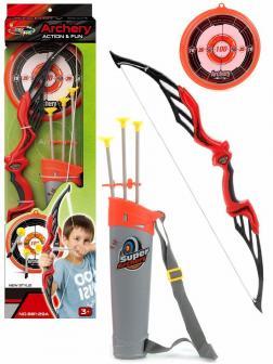 Набор Лук со стрелами «Archery» на присосках с колчаном и мишенью 881-29A