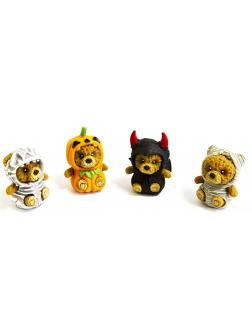 Резиновые фигурки-тянучки «Медвежата в костюмах Хэллоуин» 4 шт., А202ДБ / Panawealth