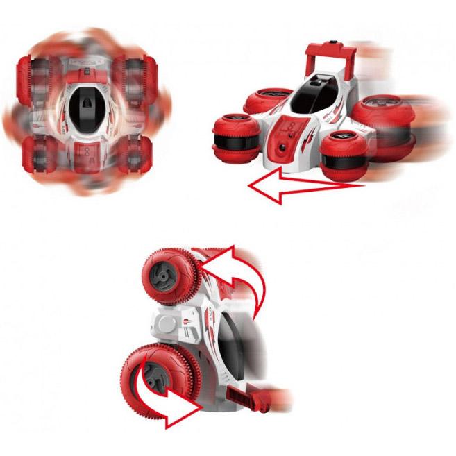 Трюковая машинка-перевертыш HB Toys «Turbine Storm» радиоуправляемая, с отверткой для сборки CL24A04-2