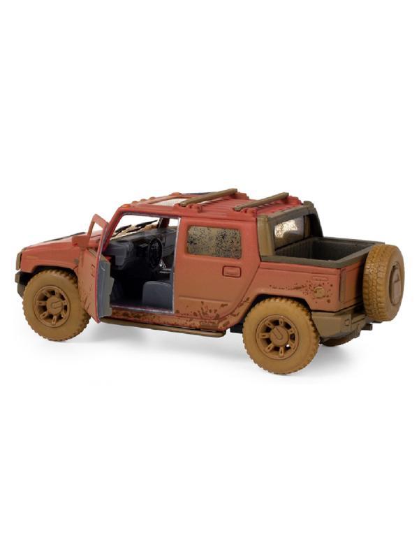 Металлическая машинка Kinsmart 1:40 «2005 Hummer H2 SUT (Грязный)» KT5097DY инерционная / Микс