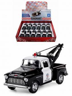 Металлическая машинка Kinsmart 1:32 «1955 Police Chevy Stepside Pickup Truck» KT5330DP инерционная