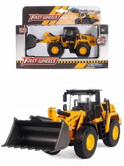 Металлическая машинка Play Smart 1:55 «Трактор с ковшом» 6703 Fast Wheels