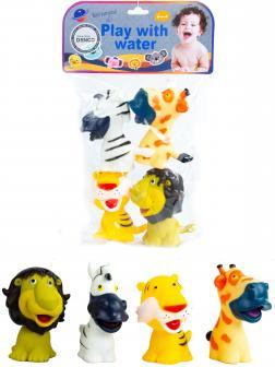 Пищалки для ванны «Африканские животные» 707A / 4 шт.