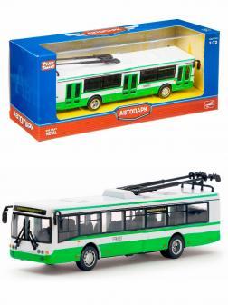 Металлический троллейбус Play Smart 1:72 «ЛиАЗ-5292» 16 см. 6407-A Автопарк / Зеленый