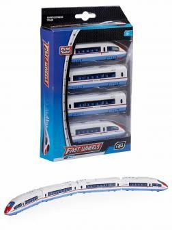 Металлический поезд Play Smart 1:64 «Супер Экспресс Молния» 6579