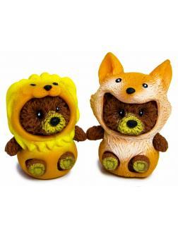 Фигурки-тянучки «Медвежата в костюмах  Льва и Лисы» из термопластичной резины, 5 см., 2 шт. в пакете / А223А-DB
