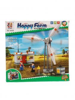 Конструктор JILEBAO Happy Farm «Ветряная электростанция» 6008 / 220 деталей