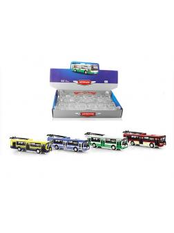 Металлический троллейбус Play Smart 1:72 «ЛиАЗ-5292» 16 см. 6547 Автопарк / Микс
