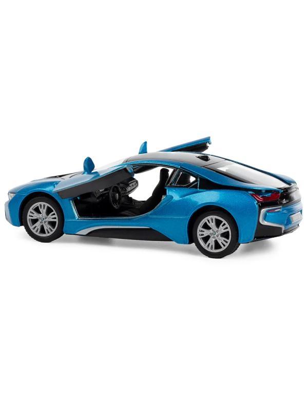 Металлическая машина Play Smart 1:43 «BMW I8» 6529, в коробке / Микс