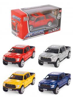 Металлическая машинка Play Smart 1:50 «Ford F-150» 9,5 см. 6530W Fast Wheels, инерционная в коробке / Микс