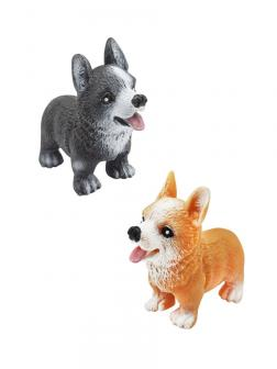 Фигурки-тянучки Животных «Собаки Корги» из термопластичной резины A219-DB, Антистресс / 2 шт.
