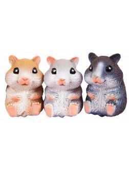 Животные-тянучки Антистресс «Хомячки» из термопластичной резины A193-PDQ / 3 шт.