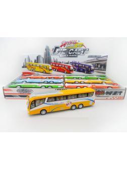 Автобус металлический 6шт (1шт) в ассортименте